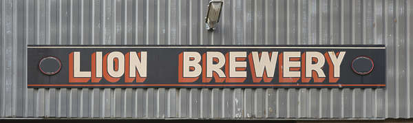 sign brewery UK english