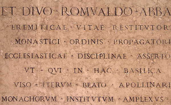 text roman words