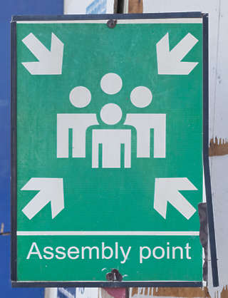 sign assembly point