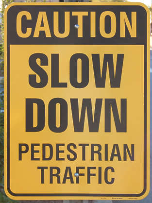 sign traffic english warning