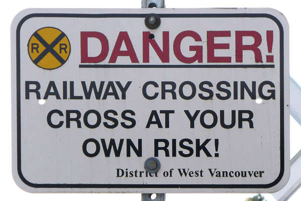 sign traffic railway crossing danger warning