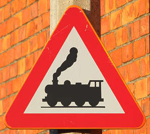 traffic sign train trains