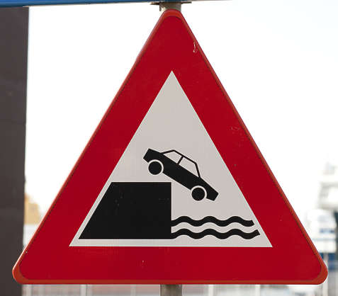 traffic sign harbour water danger