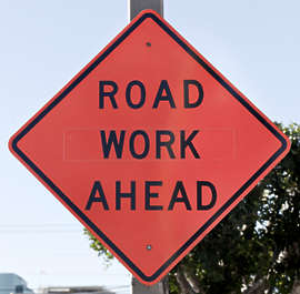 sign traffic usa united states american road work