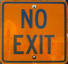 sign exit traffic