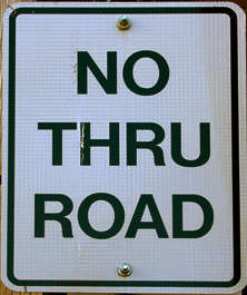 sign traffic no thru road