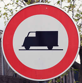 sign traffic truck