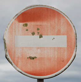 sign traffic old worn