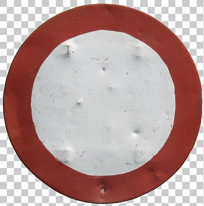 sign traffic damaged worn dents isolated masked alpha