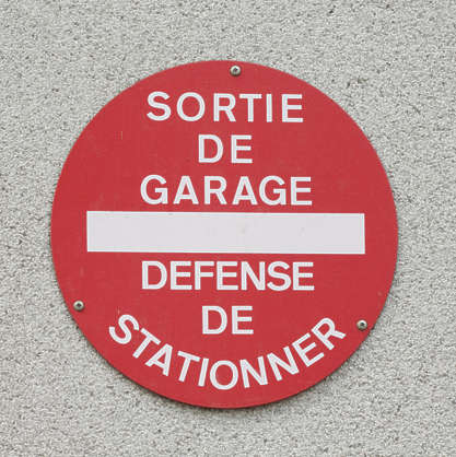 sign no parking traffic french france