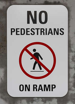 american usa seattle sign traffic pedestrian ramp