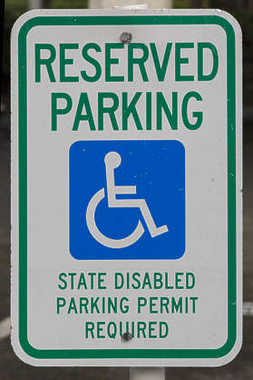 american usa seattle sign traffic reserved parking disabled