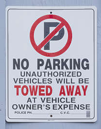 american usa seattle sign traffic no parking