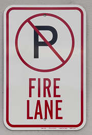 american usa seattle sign traffic fire lane