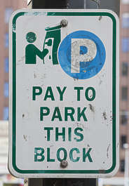 american usa seattle sign traffic parking park pay