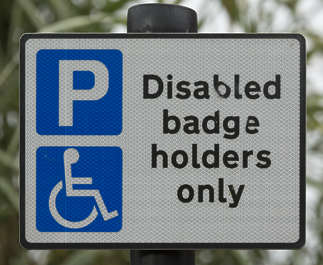 sign UK traffic parking pay disabled