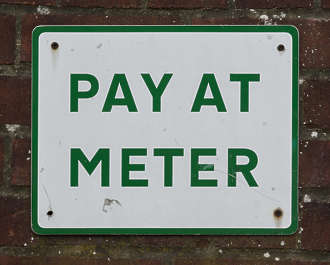 sign UK traffic parking pay