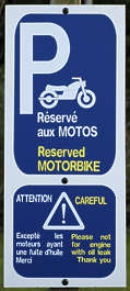 sign signs traffic motorcycle parking park