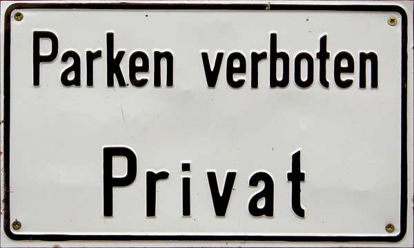 sign german parking