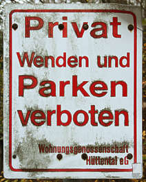 german sign parking