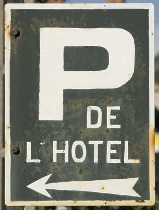 sign traffic parking hotel