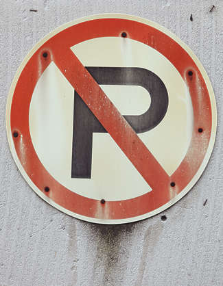 traffic sign no parking old