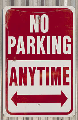 sign english new york NY US parking