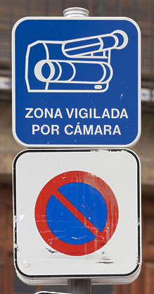 sign traffic camera surveillance spain