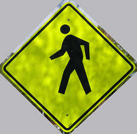 traffic sign walking pedestrian pedestrians
