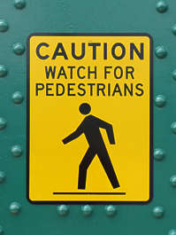 sign traffic pedestrians warning