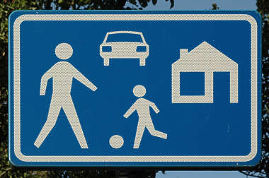 traffic sign play house car child