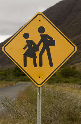 sign traffic children