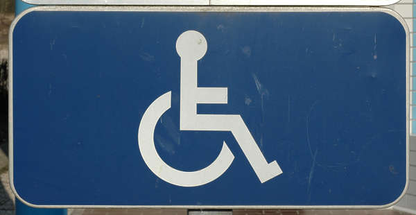 sign warning wheelchair traffic