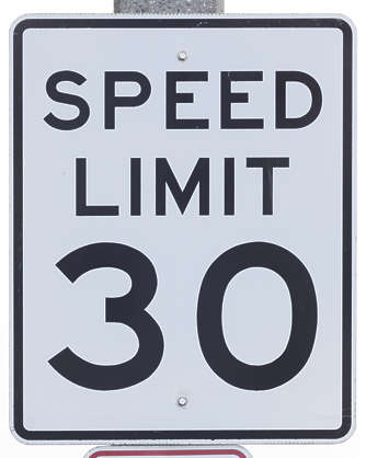 american usa seattle sign traffic speed limit