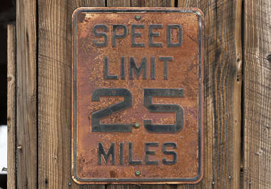 USA nelson ghost town ghosttown speed limit speedlimit sign metal rusted old weathered