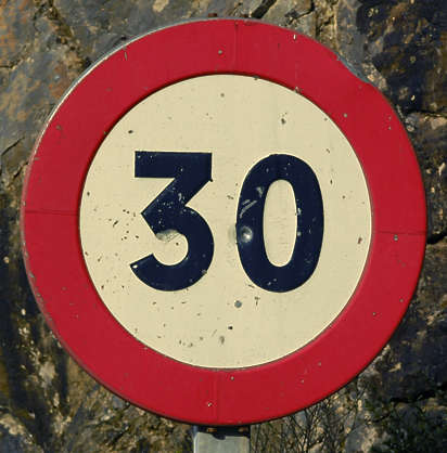 sign traffic speed 3 0