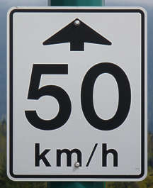 sign traffic speed