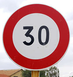 traffic sign speed