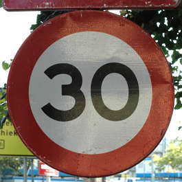traffic sign 3 0 speed