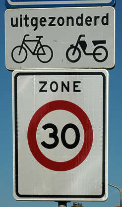 traffic sign 3 0 bicycle moped