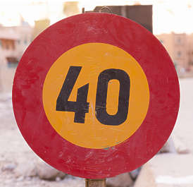 morocco traffic sign speed limit