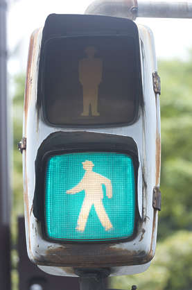 china traffic light pedestrian crossing