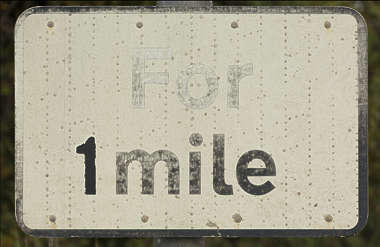 sign UK traffic 1 mile
