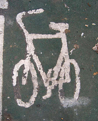 sign traffic bicycle