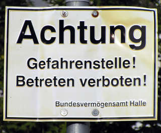 sign german warning achtung