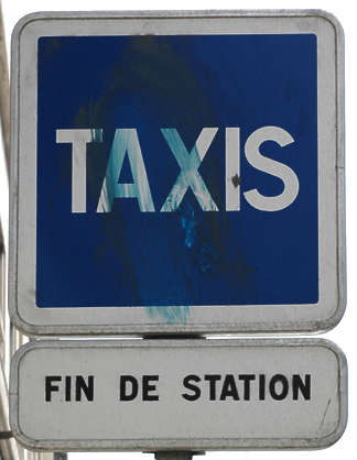 sign traffic taxi