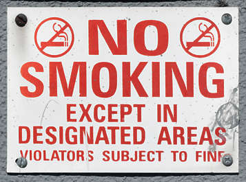 sign information smoking usa united states american