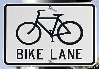 sign information traffic usa united states american bike bicycle