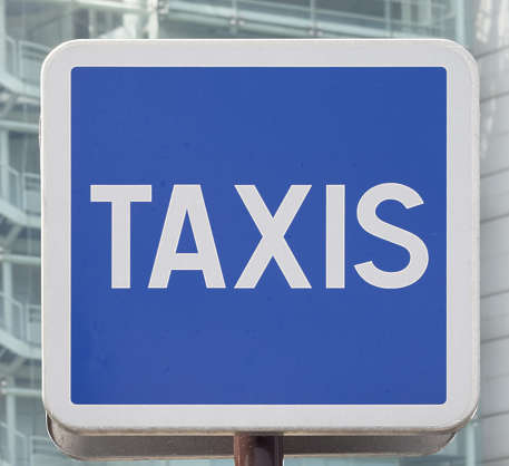 sign taxis traffic taxi