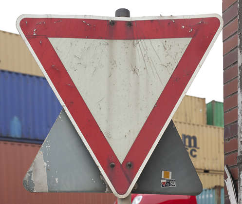 sign triangle warning traffic
